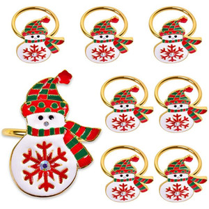 Napkin Rings,Christmas Napkin Rings Sef of 8,Xmas Ring Dinner Tables Rings for Christmas, Thanksgiving,Weddings