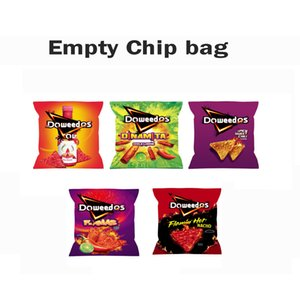 Empty Doweedos Doridos Potato chips Bags Flamin Hot Nacho Spicy Sweet Chili Chip Mylar Bag Jokes up Skittles Packaging