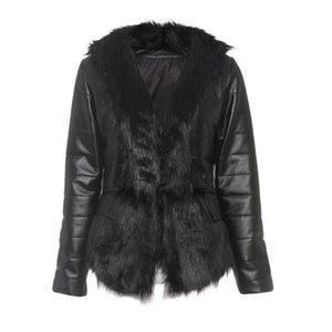 Sisjuly Women Jacket Casual Black Gothic Cool Plus Size 5XL Slim Faux Leather Coats Plain Tops Female Fashion Punk Overcoats