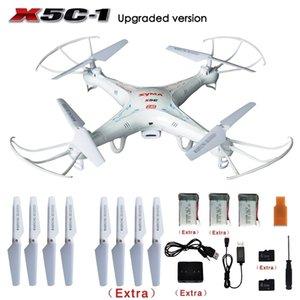 Original Syma X5C / X5C-1 Explorers 2.4G 4CH 6-Axis Giroscópio RC Quadcopter com HD Câmera + Extra 2 Pcs Baterias + Lâminas de Hélice + 4GB 201222