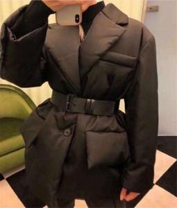 Womens Jacket Down Coats Winter Long Coat Fashion Style With Belt Corset Lady Slim Fashion Jackets Pocket Outsize Warm Coats