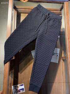 Mens 2020 Designer autunnale New Fashion Luxury Jogging Pantaloni Neri ~ Dimensioni cinese Pantaloni 3XL ~ Great Mens Yoga Joggers Pantaloni per il sudore della pista