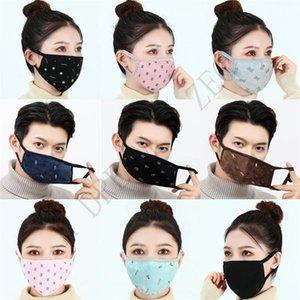 Хлопчатобумажная ткань зимняя лицевая маска мужчина женщина резина дизайнерские маски дышащие анти пыль открытый спортивные маски маски