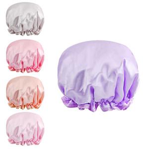 Adult shower cap color tin-cloth EVA material double layer waterproof anti-fumes cap hair shower head cap