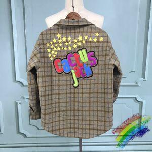 Impresión espumante Franela Chaqueta Sudaderas con capucha Hombres Mujeres Woolen Shirt Jacket Plaid Wool Jersey Abrigos Jersey