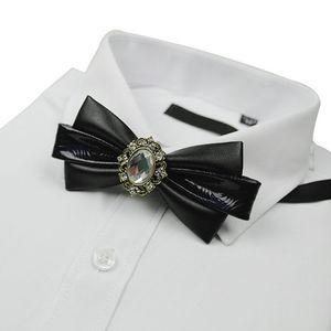 Wedding Groom Bow Tie High-grade Men's Gifts Business Banquet Suit Accessories Double Layer Korean Trendy Retro Crystal Bowtie