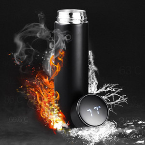 Thermal Insulation Smart Mug Cup 480ml LED Temperature Display Vacuum Stainless Steel Water Bottle Kettle Thermo Cup LCD Touch Tumblers Cup
