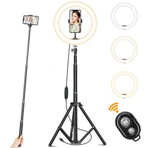 10inch 160CM LED Selfie Ring light with adjustable stand tripod phone holder ringlight for Makeup YouTube  Photography Tiktok