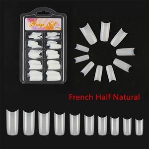 100pcs False Nail Tips Acrylic French False Nails White Clear Natural Full Half Cover Fasle Nail Art Manicure Design Set Tools Swy sqcMzJ