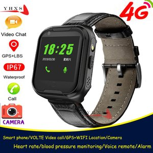 Smart 4G Video Call Watch Elderly Old Man Heart Rate Blood Pressure Monitor GPS WIFI Trace Locate Camera SOS Phone Smartwatch