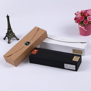 23*7cm DIY Kraft Paper Box Chocolate Gift Box For Wedding Favors Birthday Party Candy Cookies Christmas Party Gift Bake Package