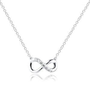 Sparkling infinito collier colar para mulheres dia dos namorados 925 esterlinas colares de prata jóias feminino cadeia de choker1