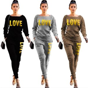 3color Women Tracksuit Designer Knitted Pullover Sweater Trousers Outfit Two Piece Clothing Set Sweater Legging Pants Suit S-2XL E122106