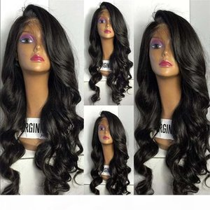 Glueless Full Lace Wigs Malaysian Unprocessed Human Hair Body Wave Lace Front Wig With Baby Hair Wavy Lace Wig For Black Women