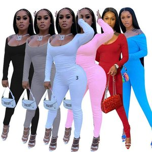 JH Women 2 Piece Set Tracksuit Fashion Solid Color Long Sleeve T Shirt Top Pleated Trousers Sport Outfits Ladies Casual Jogging Suits