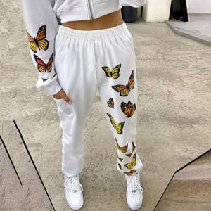 Женские потные штаны свободные брюки бабочка напечатанные штаны спортивные брюки женские повседневные длинные спортивные штаны Femme
