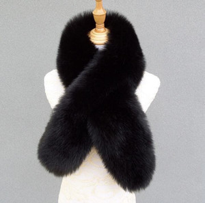 Ladies shawl women noble fur warmth soft and light fox fur scarf Super warm student girl cute lady banquet shawl