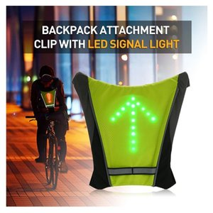 bike light Turnning Signal Bicycle bike Indicator Outdoor Hiking Camping Light Reflective Vest Bicycle Safety LED Backpack 201204