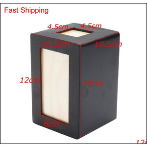 Pet Cat Cat Chien Cremation Urn Cadre photo Fiibreboard Paysful Memorial Image Garder Sake Black Pet Box pour chien Q QYLWCY BDenet