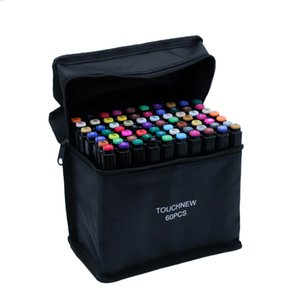 TouchFive Art Markers168 색상 알코올 기반 잉크 스케치 80 색 마커 펜 아티스트 드로잉 만화 애니메이션 아트 용품 201128