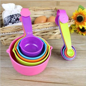 Set Plastic Useful Cooking Baking Spoon Cup Kitchen Measuring Tools OWF1038