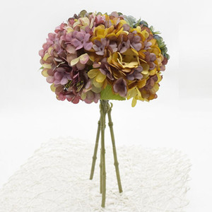 1 bunch Artificial Hydrangea Wedding holiday supplies Holding flowers Diy Living room fake flowers Autumn decoration Home decor
