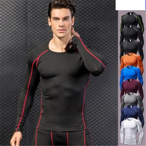 basketball jerseys Sport long sleeve shirts Mens Quick Dry Compression shirt Sport t-shirt Men Running Clothes O-Neck fitnees shirt