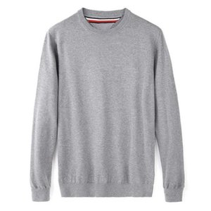 Fashion-Men's High Quality Tommi O-Neck 100%Cotton Sweater Autumn Winter Jersey Jumper Hombre Pull Homme Hiver Pullover Knitted Sweater