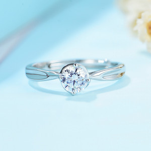 Kuololit Natural Moissanite Rings Women 925 Solid Sterling Silver class 4 claw lab Diamond ring for Engagement Wedding bride 0126