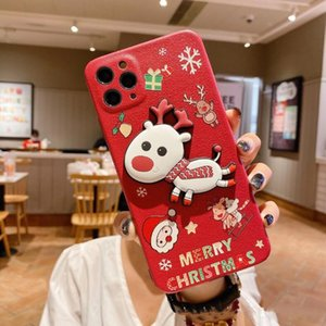 Suitable for 12 pro max cartoon xr three-dimensional Christmas xs 8P mobile phone shell lambskin goophone