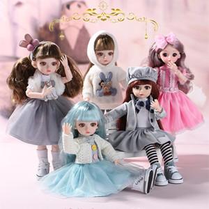 BJD Puppe 30 cm Geschenke für Mädchen 23 Gelenke DIY Puppen mit Mode Kleidung Dress Up Beste Geschenke für Mädchen Spielzeug 1/6 BJD F1216
