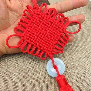 1 stücke Große chinesische Knoten Jade Tassel Keychain Caps Riemen DIY Schmuck Machen Charms Anhänger Handwerk Zubehör Handwerk Quassels H Jllfwx