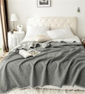 Knitted Cotton Blanket Summer Quilt Comforter Star Wave Stripe Deer Throw Bed Sheet Cover Bedspread For Adults Kids 200*230cm 201113