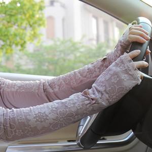 MS Special Summer Driving Long Arms Manga Thin Lace Com Luvas 99% Proteção UV Elétrica