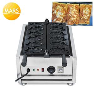 Ticari Kullanım Japon Waffle Balık Kek Ekmek Makinesi Elektrikli Kruvasan Taiyaki Makineleri Demir Snack Waffel Fırın Makineleri