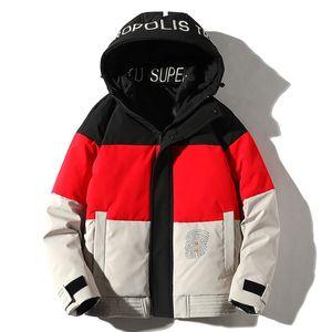 Men's down jacket winter new trend hooded heavy down casual coat