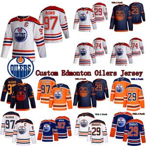 Benutzerdefinierte Edmonton-Oiler Jersey 97 Connor McDavid 29 Leon Draisaitl 11 Mark Morgendeiser 74 Ethan Bär 44 Zack Kassian Hockey Trikots