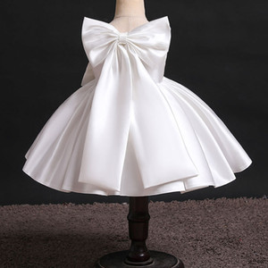 Baby Girl Dresses Sleeveless Big Bow Back Princess Dress Birthday Party Dress Infant Costume Dress for Little girls