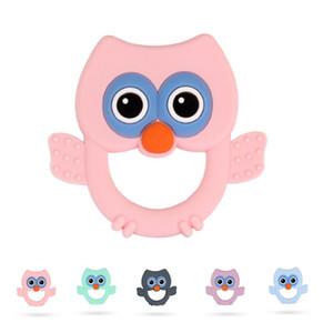 Owl Baby Silicone Teher De Dether Bird Baby Chew Jouets Perle Perle Perles Silicone Beads BPA Free Sans Bijoux