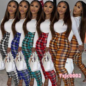 Mulheres Tracksuits Dois Peças Definir Designer 2020 Slim Sexy Color Sólido T-shirt Mal Jumpsuit Senhoras Nova Moda Outfits Sportwear