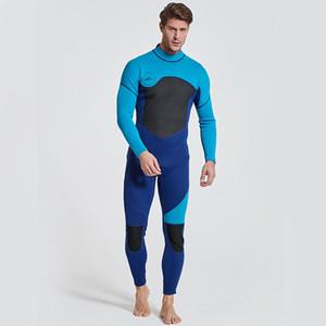 Wetsuit masculino plena coverall wetsuit 3 mm estiramento de borracha nadando de mangas compridas wetsuit surfing snorkeling uniforme coverall completo