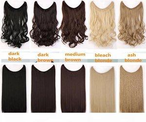 20 pollici Filo invisibile Nessun clip nelle estensioni dei capelli Secret Fish Line Parrucchieri Silky Straight Real Synthetic