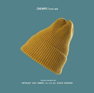 Winter Knit Beanie Hats For Woman Casual Candy Skull For Women Warm Knitted Hat Streetwear Outdoor Wool Hat Bonnet Skiing Hat Female Cap XY3