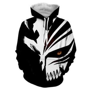 Anime Style Hoodies Bleach 3d Printed Hooded Sweatshirt Men women Casual Streetwear Pullover Hip Hop Hoodie Unisex Fashion Tops Y201123