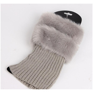 Fur Ankle Cuffs Womens Warm Faux Fur Crochet Knitted Boot Socks Cover Leg Warmer Short Socks Tube A jllhmJ lucky2005