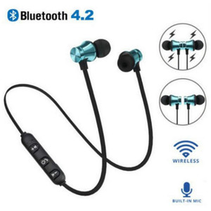Bulk Bluetooth Headphone XT11 Magnetic Wireless Running Sport Earphone Headset BT 4.2 with Mic MP3 Earbud For LG Andriod Smartphone 4 Colors