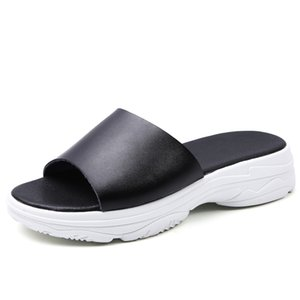 Hot Sale-2020 New Women Summer Slippers Flip Flops Non-slip Platform Sandals Ladies Summer Slippers Peep Toe Sandals Flip-flops Women
