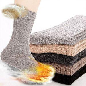 2021 Erkek Sonbahar Kış erkek İğnesi Tavşan Yün Çorap Erkek Kalınlaşma Termal Yün Çorap Erkekler Için Sıcak Soks 1 Pairs = 2 adet