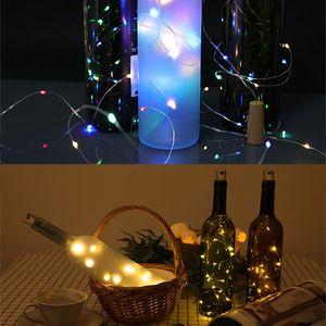 Wine Bottle Cork Lights String 2M 20 LED Lights Battery Power for Party Wedding New Year Bar Decor Bottle Lights CCA2776