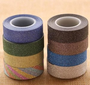 New Arrival Adhesive Silver Golden Glitter Washi Tape Scrapbooking Christmas Party Kawaii Cute Decorative Paper C wmtsTc loveshop01
